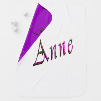 Floral Anne Name Logo, Baby Blanket
