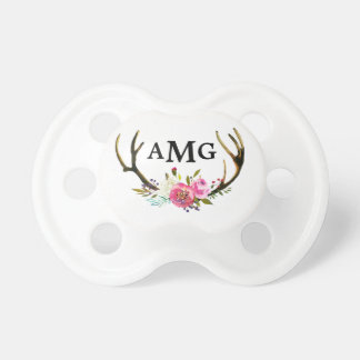 Floral Antler Initial Dummy