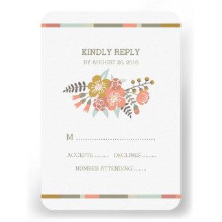 FLORAL ANTLERS | WEDDING RESPONSE CARD