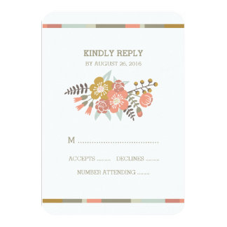 FLORAL ANTLERS | WEDDING RESPONSE CARD CUSTOM INVITE