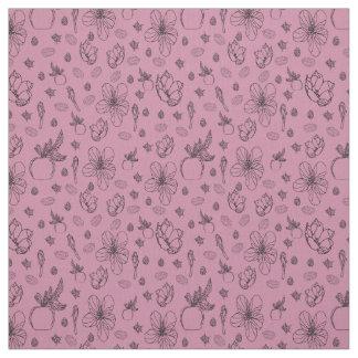 Floral Apple Design on Pima Cotton Fabric