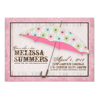 """Floral April Showers Baby Shower Invitations 5"""" X 7"""" Invitation Card"""