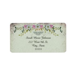 wedding guest shipping address return address labels