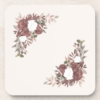 Floral Arrangement in Pink and Mauve Coaster