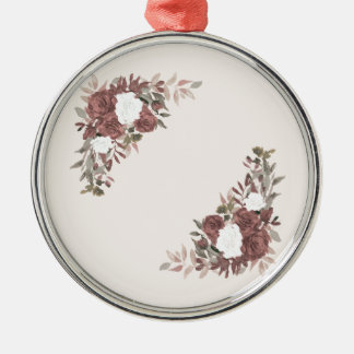 Floral Arrangement in Pink and Mauve Metal Ornament