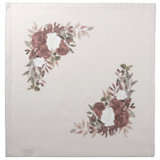 Floral Arrangement in Pink and Mauve Napkin