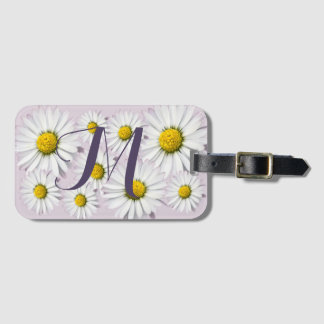 Floral Arrangement of White and Yellow Daisies Luggage Tag
