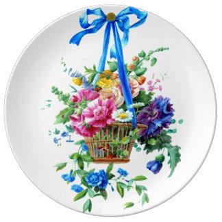 floral arrangement Watercolor Romantic Plate