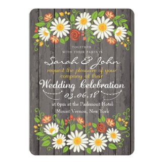 Floral Arrangement Wedding Invitation