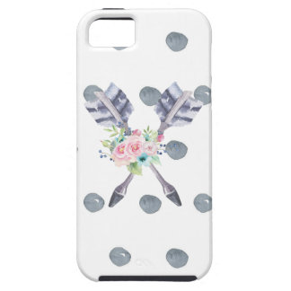 Floral Arrows with Polka Dots Case For The iPhone 5