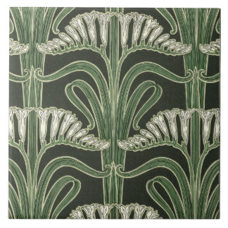 Floral Art Nouveau design Ceramic Tile