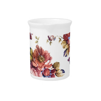 floral art pattern texture design pitcher