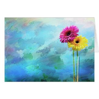 Floral artistic design greeting card