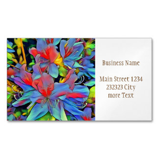 Floral ArtStudio wonderful flowers Magnetic Business Cards