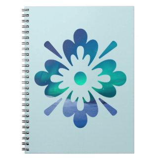 Floral Aurora Northern Lights Spiral Notebook