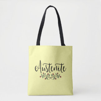 Floral Austenite Yellow Bookish Tote Bag