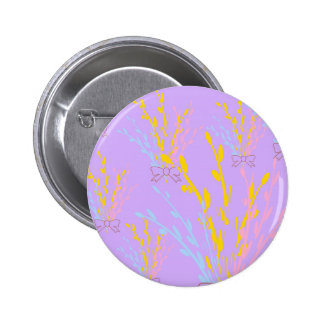 Floral Awareness Ribbons on Lilac Purple 6 Cm Round Badge