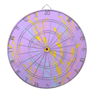 Floral Awareness Ribbons on Lilac Purple Dartboard