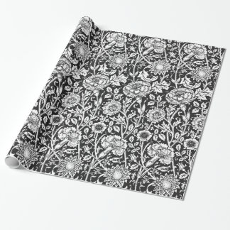 Floral B&W Wrapping Paper