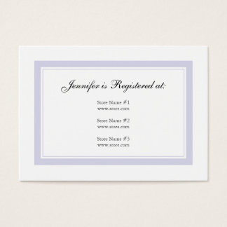 Floral Baby Girl Registry Card - Baby Lilac