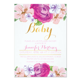 Floral Baby Shower Card