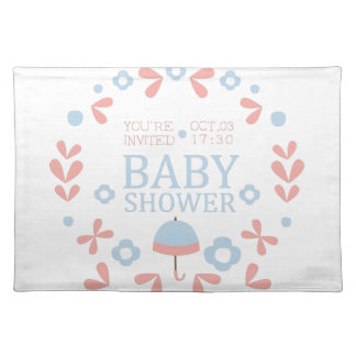 Floral Baby Shower Invitation Design Template Placemat