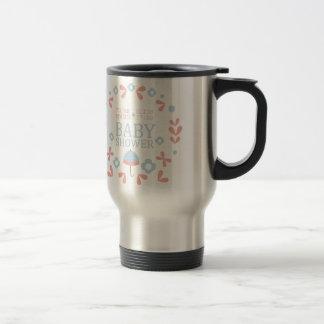 Floral Baby Shower Invitation Design Template Travel Mug