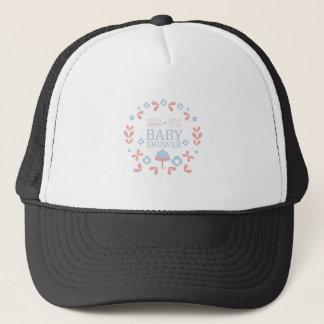Floral Baby Shower Invitation Design Template Trucker Hat