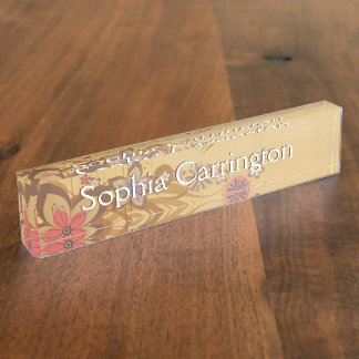 Floral Background 212 Name Plate
