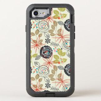 Floral background 3 OtterBox defender iPhone 7 case