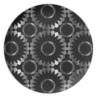 Floral background party plate