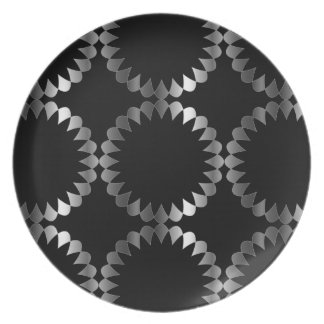 Floral background plate