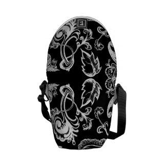 Floral bag bw messenger bags