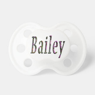 Floral Bailey Name Logo, Dummy