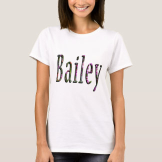 Floral Bailey Name Logo, T-Shirt