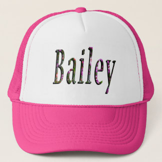 Floral Bailey Name Logo, Trucker Hat