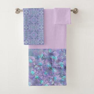 Floral Bath Towel Set