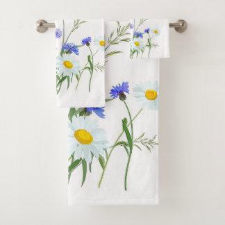 Floral Bathroom Towel Set