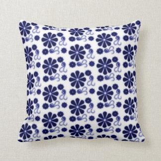 Floral Batik Swirl Pillow