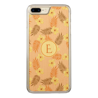 Floral Beautiful yellow and orange design. Carved iPhone 8 Plus/7 Plus Case