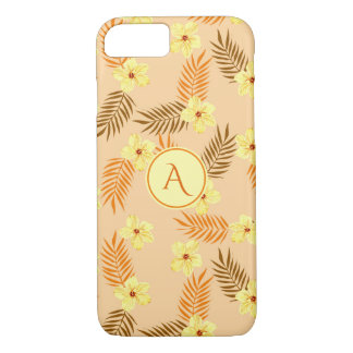 Floral Beautiful yellow and orange design. iPhone 8/7 Case