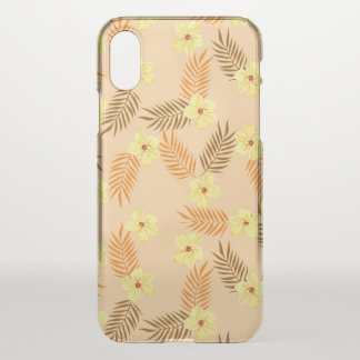 Floral Beautiful yellow and orange design. iPhone X Case
