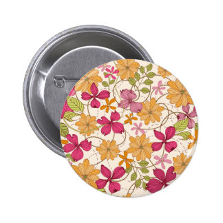 Floral beauty 6 cm round badge
