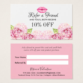 Floral Beauty Business Referral Card