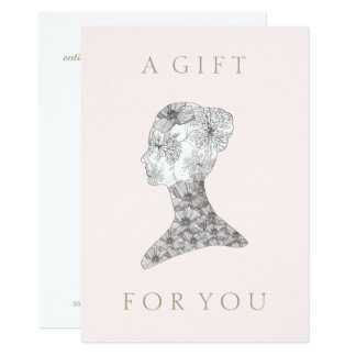Floral beauty Girl  Salon and Spa Gift Certificate Card