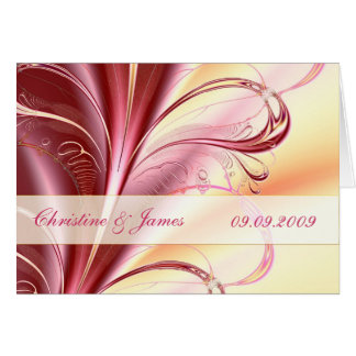 Floral beauty, Wedding invitation card