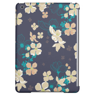 Floral Beige and Teal
