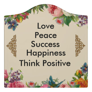 Floral Beige Encouragement Sentimental Sign
