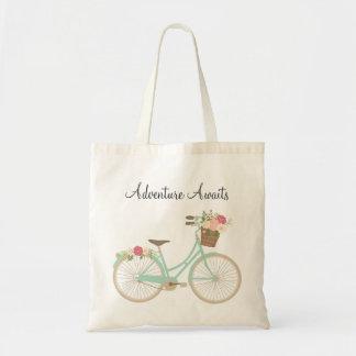 Floral Bike Tote Bag