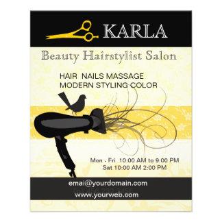 Floral Bird Beauty Salon  Spa Hair Stylist Flyer